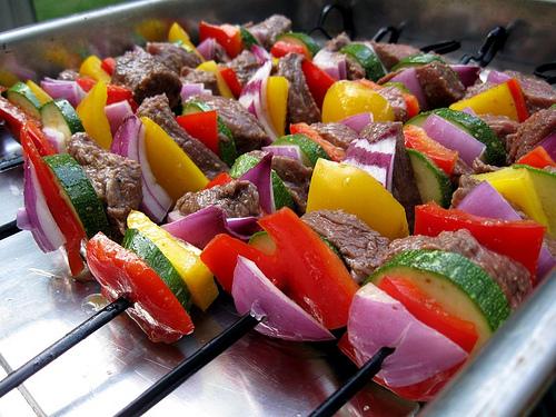 Beef and Veggie Kebabs